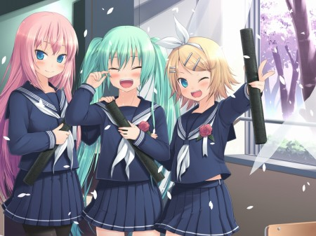 Vocaloid College School Girl Japan Blog Anime X