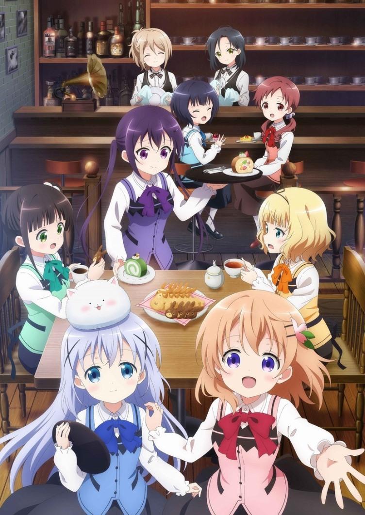 Gochuumon wa Usagi Desu Ka? 3ª Temporada tem novo visual e canções-temas »  Anime Xis