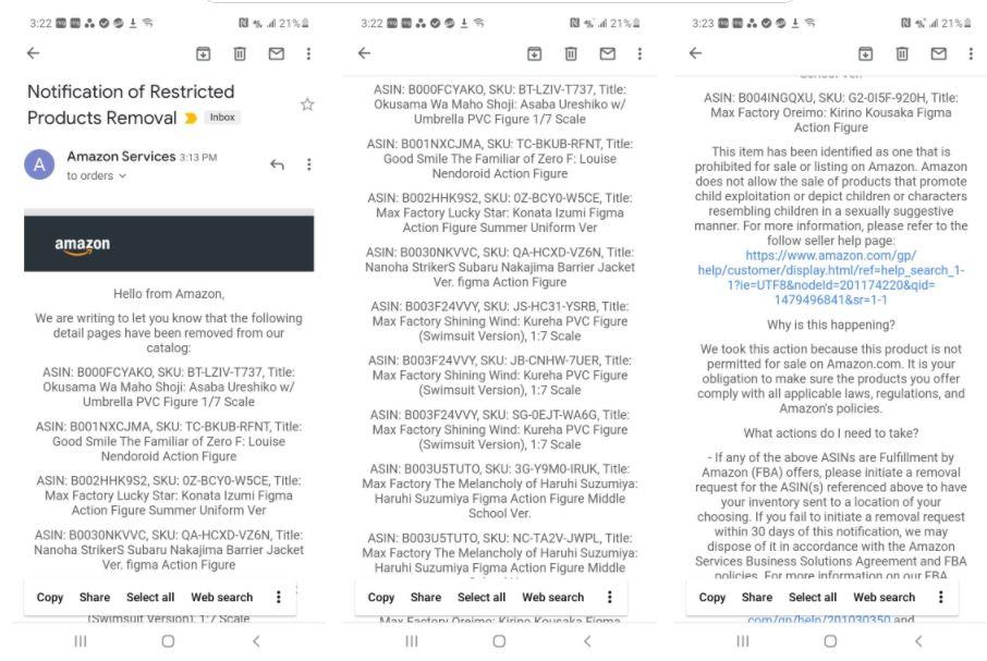 Amazon - email