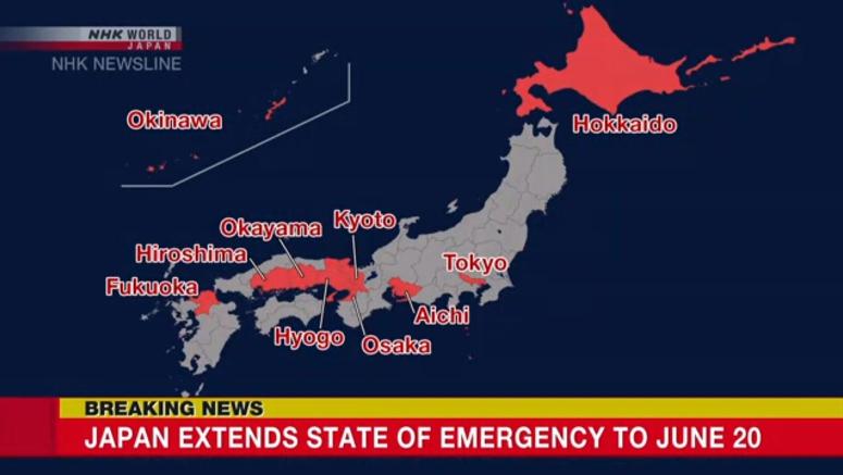 Estado de Emergência - NHK - COVID-19 - Coronavírus - Japão